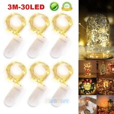 6 x 30 LEDs Battery Operated LED Copper Wire String Fairy Lights Lamp 3M Party