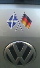 Aufkleber Fahne Schottland Deutschland 8,5x6 (für Auto geeignet) Scottish German