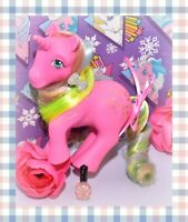 ❤️My Little Pony MLP G1 Vtg PINWHEEL Rainbow Unicorn Pink Glitter Sparkle❤️