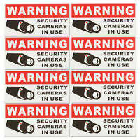 8 pcs Security Camera In Use Warning Safety Sign Vinyl Window Sticker Decal USA