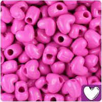 13mm 50 x Neon Green Opaque Heart Pony Beads