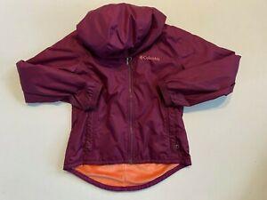 Columbia Full Zip Fleece Lined Hooded Jacket Youth Girls Small