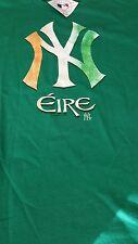MLB New York Yankees Baseball Celtic Green Irish Tradition T Shirt Mens Eire