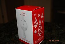 Rare 2013 Hallmark Baby's First 1st Xmas Snow globe Rattle Keepsake Ornament MIB