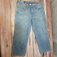 Lucky Brand Womens Size 10 X 30 Crop Capri Shorts Jeans Bermuda