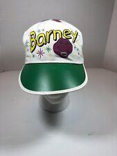 Vintage 80s/90s Barney The Purple Dinosaur Painters Hat