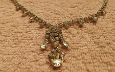 RHINESTONES TRUE VINTAGE NECKLACE CHOKER CLEAR /SILVER VALENTINES WORTHY