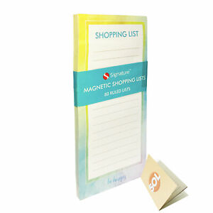 Magnetic Shopping List Pad Notepad | 80 Tear Off Pages Fridge Memo Meal Planner