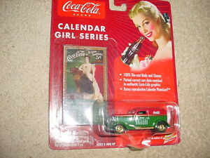 JOHNNY LIGHTNING COCA COLA CALENDAR GIRL '33 FORD PANEL DELIVERY FREE USA SHIP