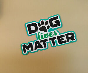 Dog Lives Matter title paper piecing Premade Scrapbook Pages