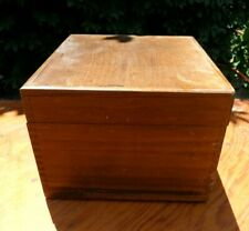 Vintage 1968 Peters Products Large Dove Tailed Wood  File Box