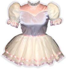 """Lucia"" Custom Fit PINK & LILAC Satin & Organza Adult LG Baby Sissy Dress LEANNE"