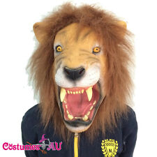 Angry Lion Head Scary Halloween Party Facial Mask Latex Animal Cosplay Costume