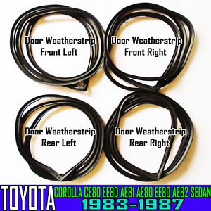 FOR TOYOTA COROLLA  CE AE80 AE82 EE80 E82 SEDAN FRONT REAR DOOR WEATHERSTRIP NEW