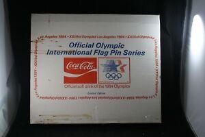 Coca Cola 1984 Official Olympic 150 Flag Pin Set Los Angeles Olympics NIB LE