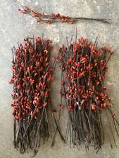 "Set of 50 ~ 7"" 7 inch BURNT ORANGE Pip Berry Garland Picks Country Craft Supply"