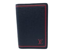 New Authentic Men's Louis Vuitton Pocket Organizer Taiga Card Holder #511H