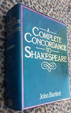 Complete Concordance to SHAKESPEARE by John Bartlett pub MacMillan 1979 hc HUGE!
