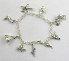 "Sterling Silver ""Into The West"" 3-D Charm Bracelet"