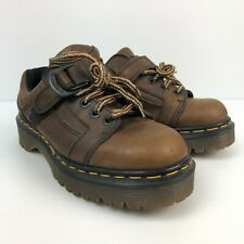 Vtg England Doc Martens Aw004 Brown Leather Lace Up Wom 00006000 ens Casual Shoes Sz 5