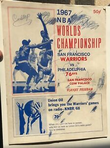 1967 NBA Championship Program San Francisco Warriors Vs Philadelphia Sixers