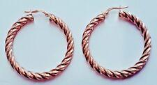 9ct Rose Gold Twist Hoop Creole Earrings 2.7g *NEW* Xmas Gift Girlfriend Present