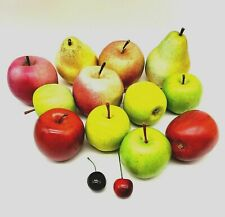 Faux Fruit Realistic Home Staging Theater Party Decor Lifelike 12+ pcs ApplePear