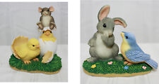 2 Charming Tails Figurines ~ What's Hatchin ~ and ~ A Little Bird Told Me