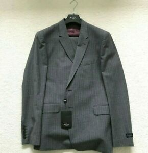 """Paul Smith """"The Floral"""" Grey Fine Stripe Single Breasted Suit Size 44"""