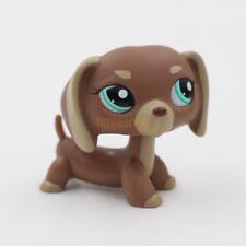 Littlest Pet Shop Animals LPS #1751 Brown Dachshund Dog Green Eyes Puppy Toys
