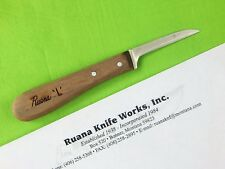 "Custom Hand Made ""L"" Marked RUANA Knife Works Leather Cutting Tool & Letter"