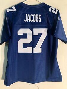 Reebok Women's Premier NFL Jersey New York Giants Brandon Jacobs Blue sz M