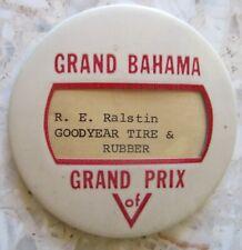 1967 GRAND BAHAMA GRAND PRIX - SPEED WEEKS - PIT BADGE, SUPER-RARE!
