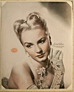 Vintage 1942 PORTRAIT of JANET BLAIR with Frame -- 2348