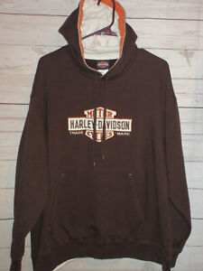 Harley-Davidson Motorcycles Brown Hoodie Pullover Size Lg   (BB2)
