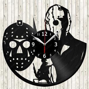 Jason Mask Vinyl Record Wall Clock Decor Handmade 2331