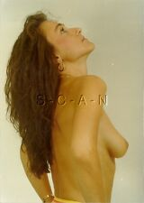 Original Vintage Large (5 x7) COLOR 1970s Artistic Nude RP- Woman Looks Up