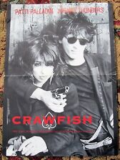 JOHNNY THUNDERS PATTI PALLADIN U.K. REC COM PROMO POSTER 'CRAWFISH' SINGLE 1985