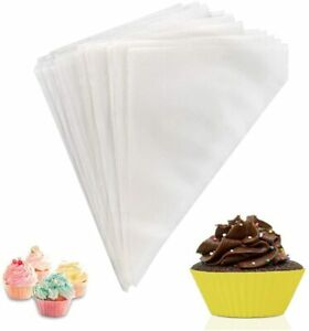 100 Pack Piping Bags, Disposable Pastry Bags for Cream Cake Decoration, Cupcake