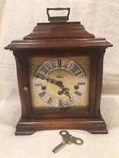 Mantle Clock Franz Hermle Clockwork 2 JEWEL KEY WOUND 340-020A, Nice