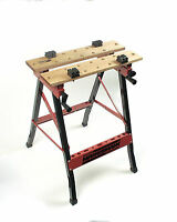 Mannesmann Work Bench Foldable 100 KG MDF Surface Metal Chassis VPA GS TUV
