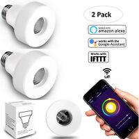 E27 Smart Wifi Light Bulb Socket Outlet Adapter Lamp Holder  Alexa Google Home