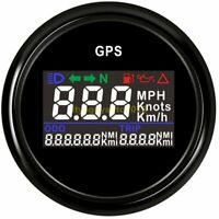 52mm Motorcycle Digital GPS Speedometer odometer Waterproof for Car Truck Boat