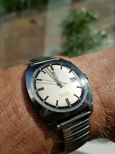 Vintage Timex Automatic Date Watch, Rare Dial. Serviced GWO 1971