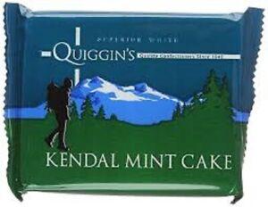 Kendal Mint Cake 4 x 85g Bars Quiggins  White Kendal Mintcake