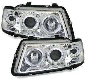 Angel Eyes Scheinwerfer Set in Chrom für Audi A3 8L 8/96-8/00 oneBlock Blinker