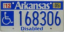Arkansas  License Plate, Original Kennzeichen  USA  168306  ORIGINALBILD