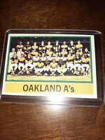 1976 Topps Baseball Team Oakland Athletics #421 VINTAGE BASEBALL CARD
