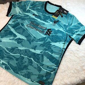 Nike Liverpool F.C 20/21 Stadium Away Jersey Sz XXL Mens CZ2635-354 Turquoise
