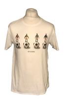Ben Sherman Men's T Shirt Medium White Football 100% Cotton S/S